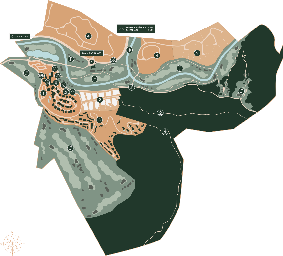 Mapa do Ombria Resort