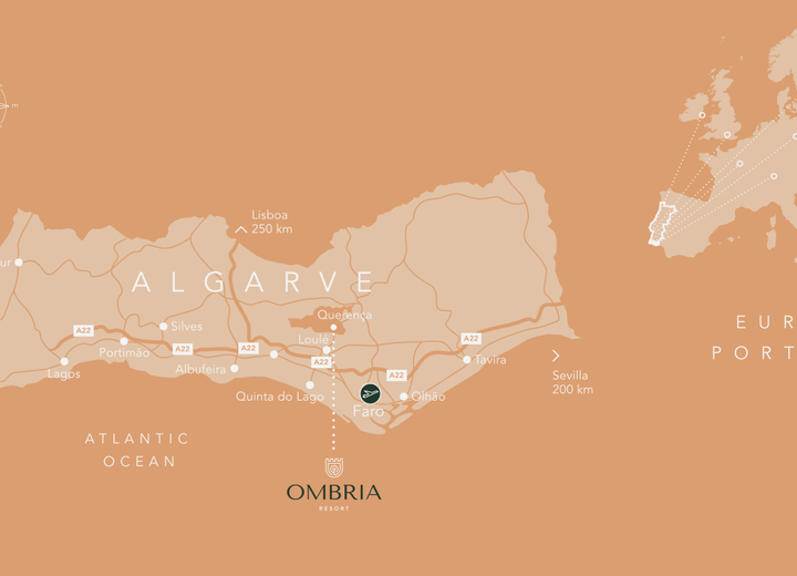 Mapa do Algarve
