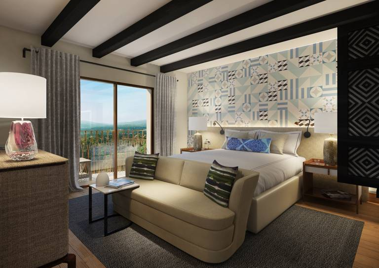Viceroy Residences - Double bedroom with balcony