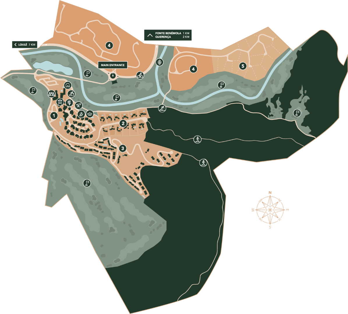 Map of the area surrounding the Ombria Resort