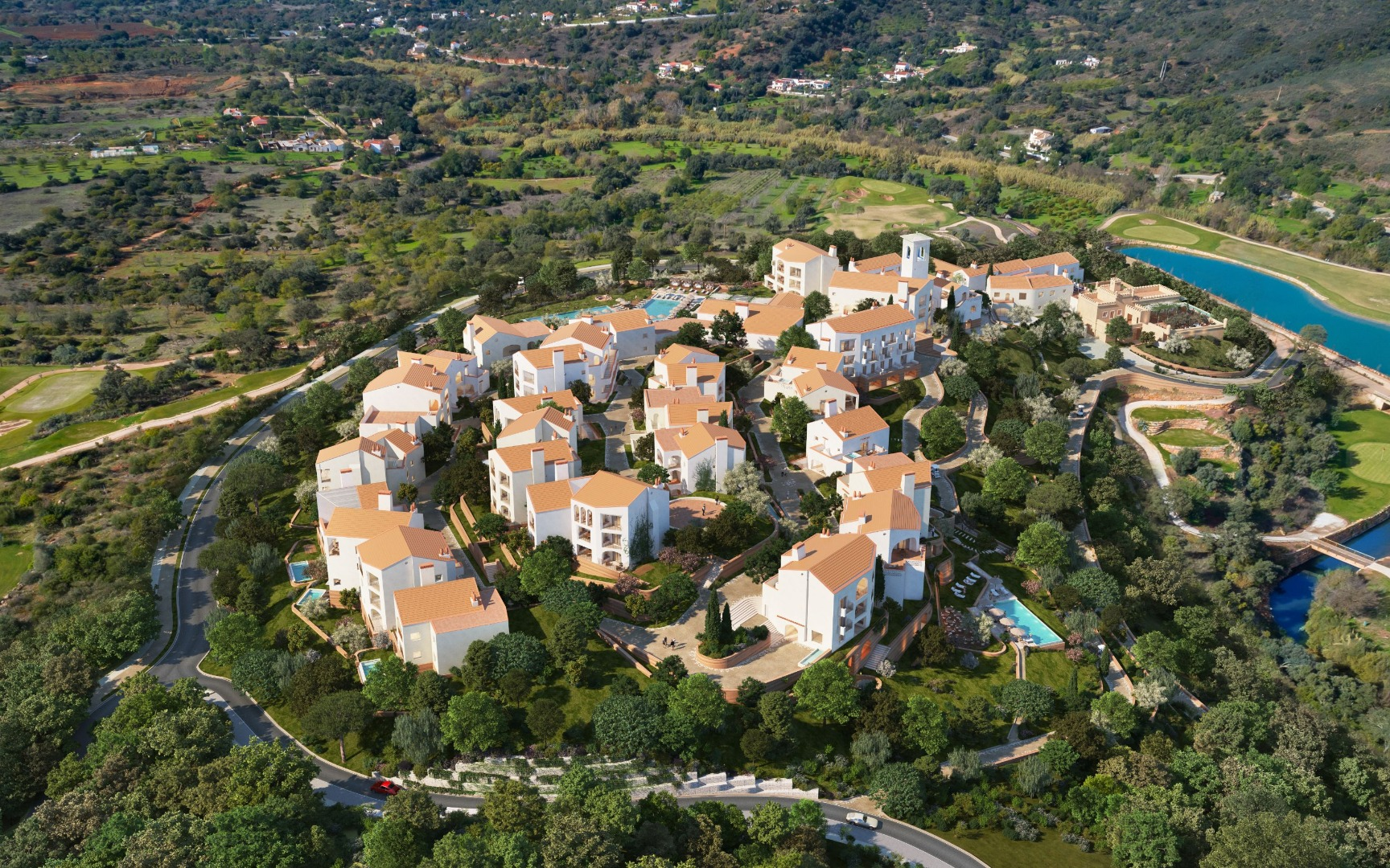 Aerial image of Ombria resort