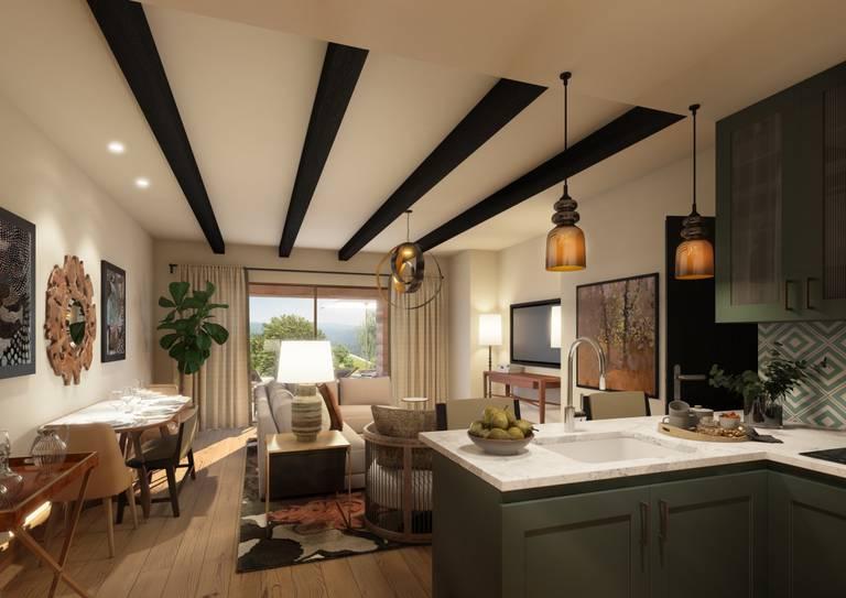 Viceroy Residences - Cozinha e Sala de Estar